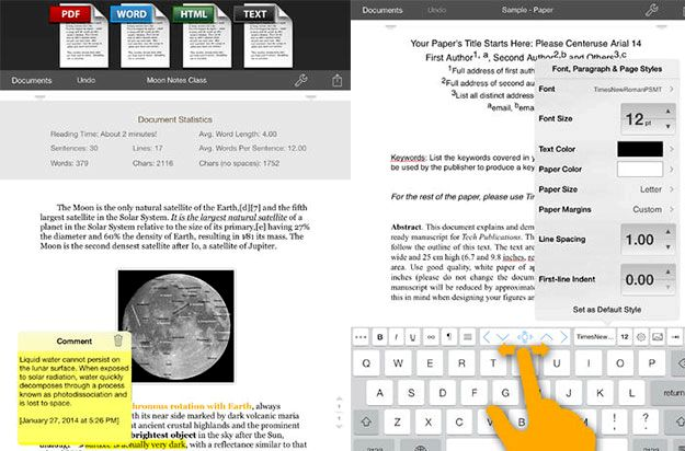 What is the best free word processing app for ipad 2