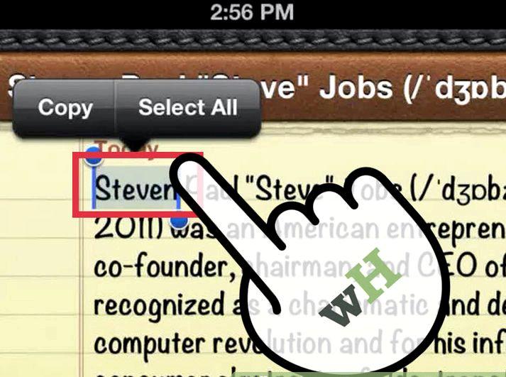 Þegar ég afrita texta á iPad hvar er það að fara