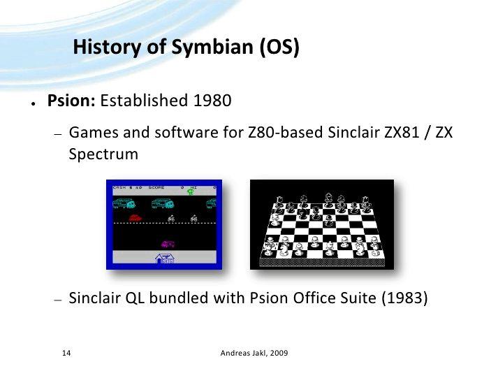 Hvenær var Symbian OS fyrst búið