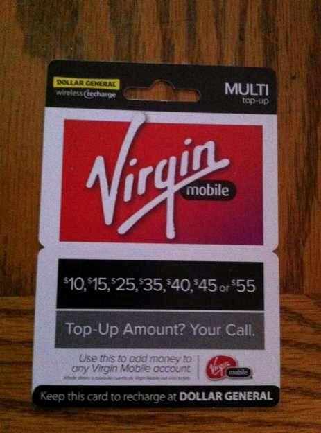 Var kan jag köpa Virgin Mobile top-off kort