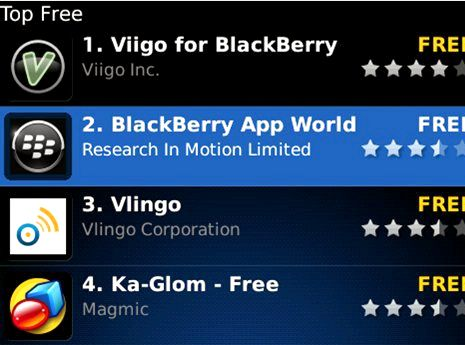 Hvar gerði BlackBerry App World minn fara
