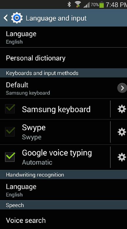 Hvar gerði lyklaborðið mitt fara á Samsung Galaxy minn 3