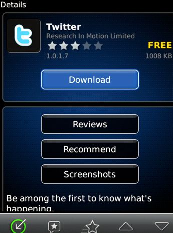 Blackberry app world where is it on my phone