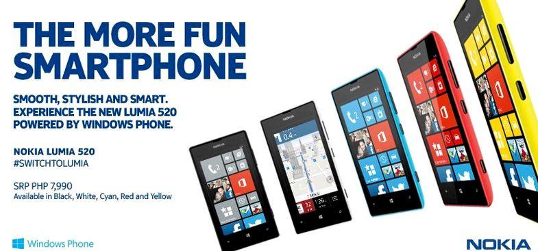 Hvar á að kaupa Nokia Lumia 520 á Filippseyjum